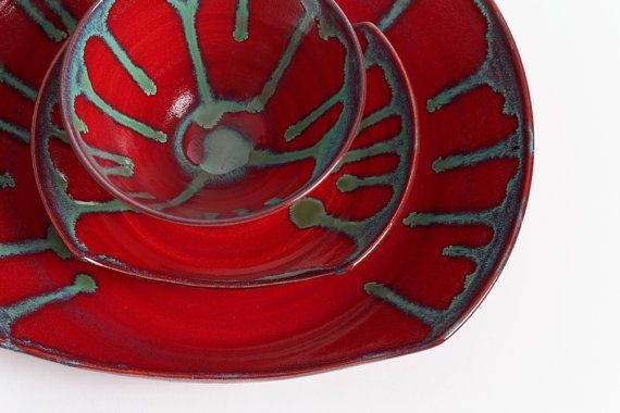 Plats en grès des plats en céramique plaque par LivingEarthCeramics, $119.00