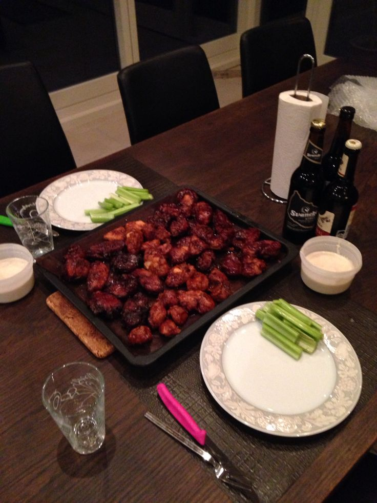 Fried chicken with bdubs honey BBQ sauce and blue cheese sauce! This is how to eat wings!