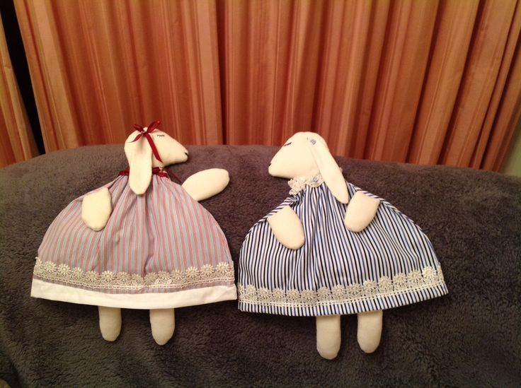 Bunny Nightdress cases, made by my friend Meryl to raise funds for Nightstop.
