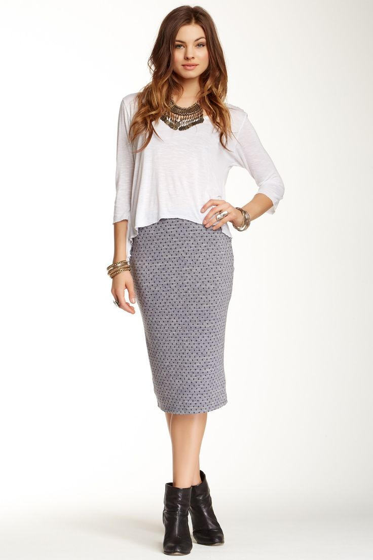Dots Pencil Skirt by Free People on @nordstrom_rack