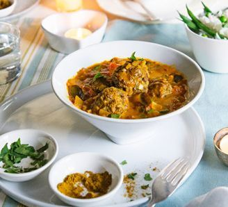 Lighter lamb curry kofta