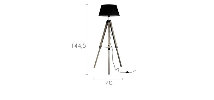 lampadaire trepied noir metal pas cher p r o j e t p r. Black Bedroom Furniture Sets. Home Design Ideas