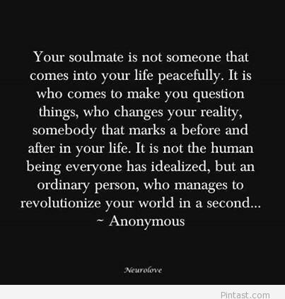 Anonymous 2014 quote about soulmates / Pintast