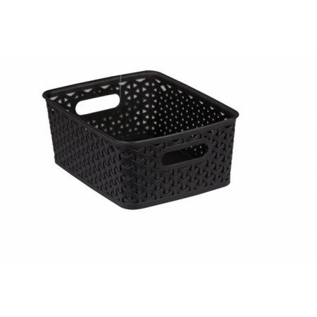 Buy HDS Trading PB40996 Plastic Basket Black Med at Walmart.com
