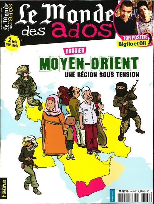 """Le Monde des Ados - N°360 - Comprendre les tensions au Moyen-Orient - Dans les coulisses d'un atelier-presse au collège - Entre nous : """"j'étouffe dans ma famille"""""""