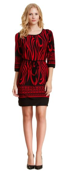 Casual and office printed dress