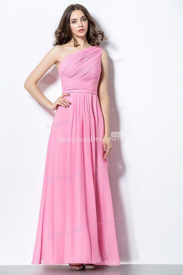 54 best One shoulder bridesmaid dresses images on Pinterest   One ...