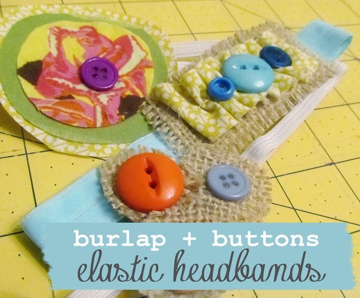 So cute for little girls!  Love these autumn-inspired burlap + buttons headbands!: Baby Idea, Art Crafts, Crafts 101, Burlap Creations, Buttons Headbands, Crafts Archives, Autumn Inspiration Burlap, Buttons Elast, Cm Crafty
