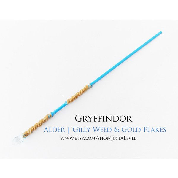Golden Tear Wand Inspired by Harry Potter (Gryffindor) ($16) ❤ liked on Polyvore featuring gryffindor wand and wand