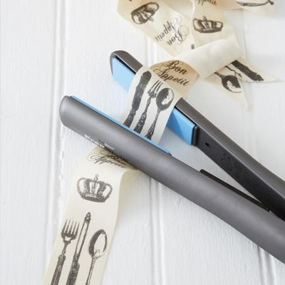 TOP TIP: Use a flat iron for hair to quickly and easily iron out the crinkles in ribbon.