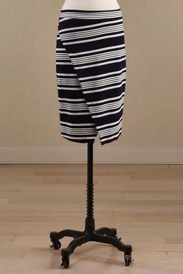 Versona striped wrap pencil skirt #Versona