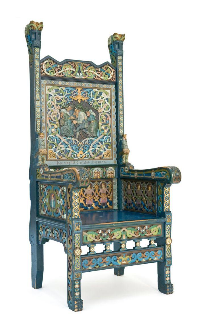180 best viking stol images on pinterest vikings for Viking chair design
