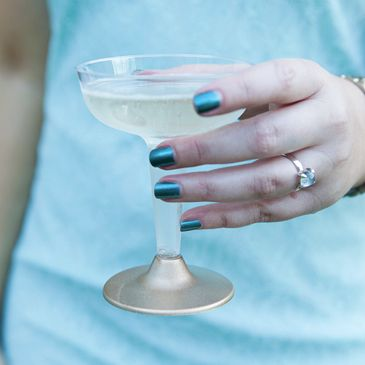 Simple DIY | painted plastic champagne cups - Something Turquoise {embracing the DIY bride} Yes.