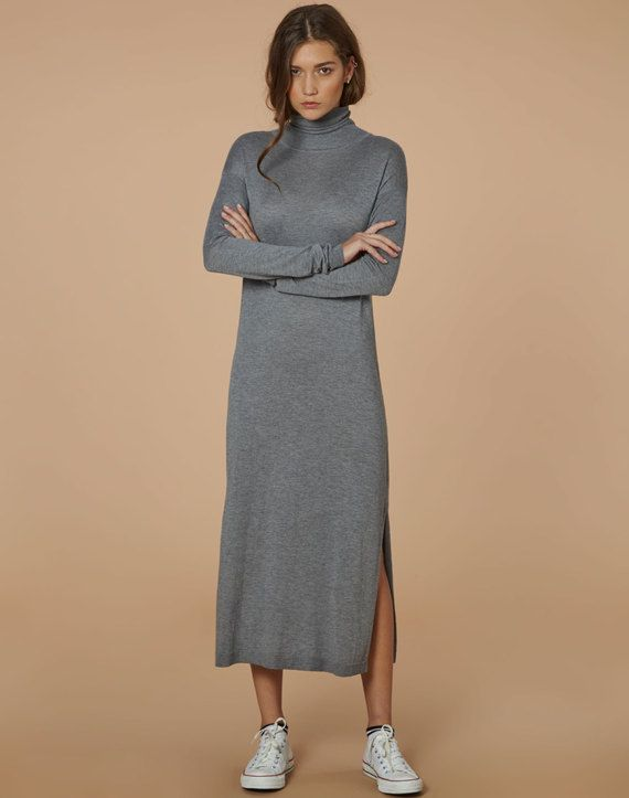edt. Rollneck Midi Dress