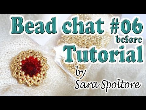 Bead Chat before Tutorial #06 - Beaded setting for a Rivoli - Beaded bezel Rivoli - YouTube