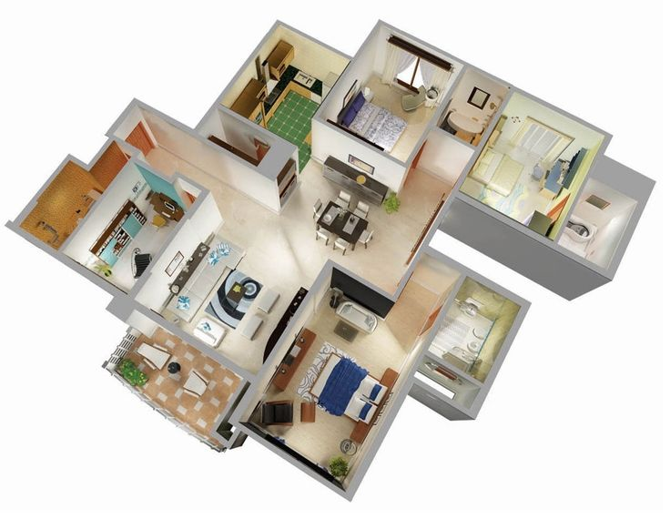 38 best Home plans 3D images on Pinterest   Architecture  Bedroom apartment  and Models38 best Home plans 3D images on Pinterest   Architecture  Bedroom  . 3 Bedroom House Designs 3d. Home Design Ideas