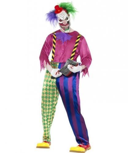 Disfraz de Payaso Terrorífico adulto. Killer clown costume. #disfraz #halloween #fancydresses