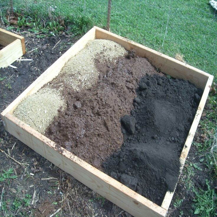 Recommended soil mix for square foot gardening
