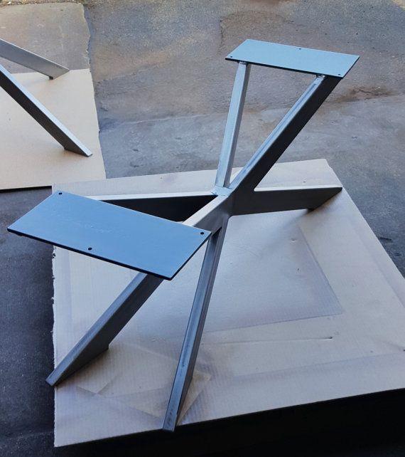 Modern Bench X Base for Modern table van DVAMetal op Etsy