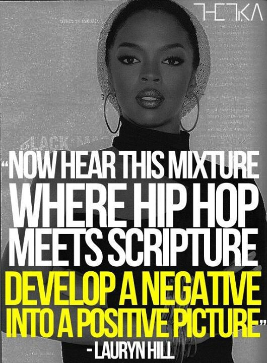 """Quote by Lauryn Hill... """"Everything, is everything. What is meant to be will be..."""""""