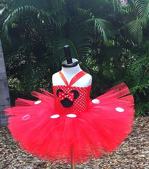 Vestido de Minnie Mouse tutu de Minnie Mouse vestido de rojo
