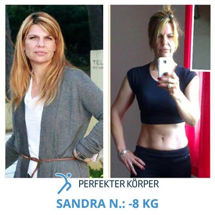 Mit 45 Jahren zum Wunschgewicht! 💪👙  Sandra hat mithilfe des Programms Perfekter Körper 8 kg verloren, ihren Körper gestrafft und endlich die Figur, die die sich schon immer gewünscht hat.   Sandra meint, dieses Programm sei der einzig wahre Weg für einen erfolgreichen Gewichtsverlust und eine ausgezeichnete Möglichkeit, sich das Grundwissen über eine gesunde Ernährungsweise anzueignen.   Sandra deine Ergebnisse sind beneidenswert!! 😉👏