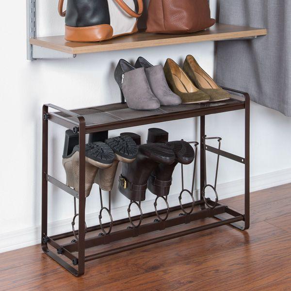 Stackable Tilt Out Short Boot Organizer Stackable Shoe Rack Shoe Rack Bench With Shoe Storage