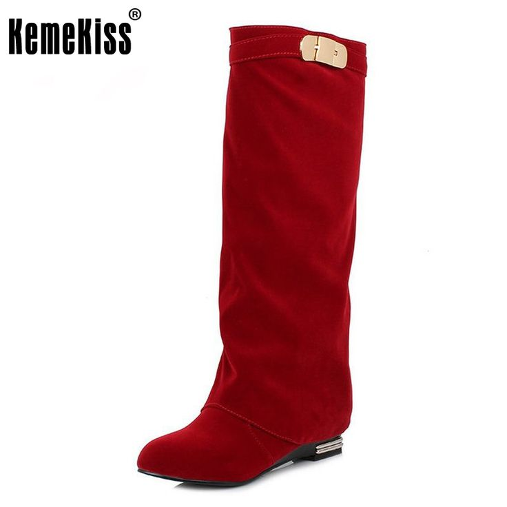 Women Flat Knee Boot Fashion Winter Snow Warm Long Boots Riding News Design Botas Ladies Dress Footwear Shoes Size 32-43 #Affiliate