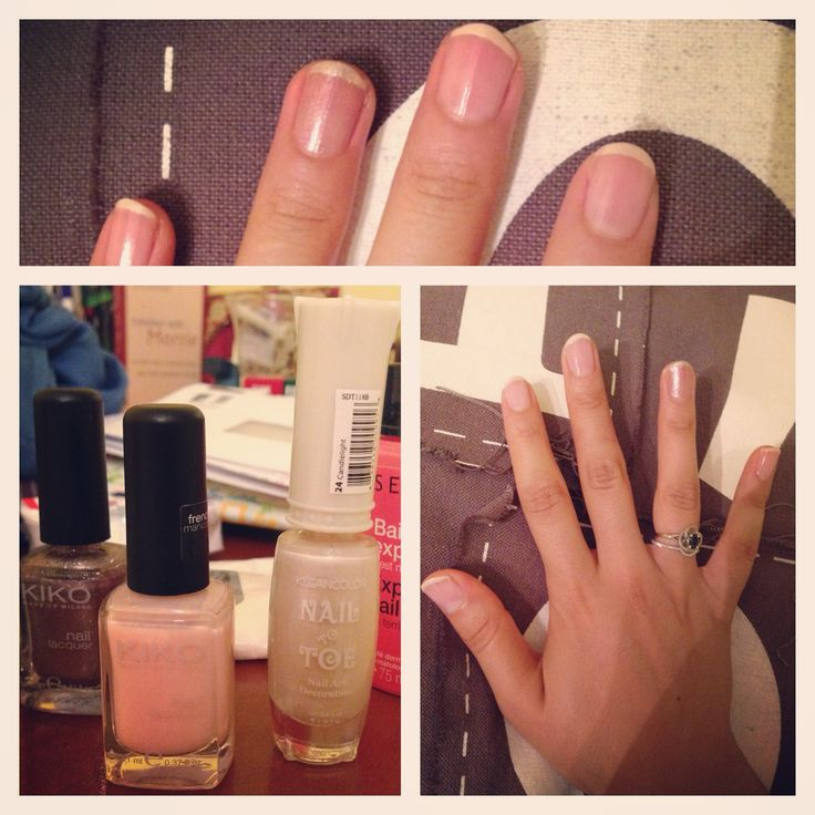 DIY French Manicure with two different Kiko nail polishes. <3 http://instagram.com/p/cScVV5FMQ0/