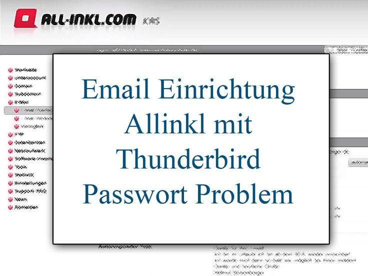 """Ich hatte bei der Einrichtung meiner Email von AllInkl mit Thunderbird ein paar Probleme mit dem Passwort. In dem Video zeige ich Euch, wie man das Passwort einrichtet und wie es dann bei mir geklappt hat.  Der Grund kann auch sein, dass eine kleine Verzögerung zwischen Einrichtung des Passwortes bei Allinkl und der Speicherung … """"Email Einrichtung Allinkl mit Thunderbird Passwort Problem"""" weiterlesen"""