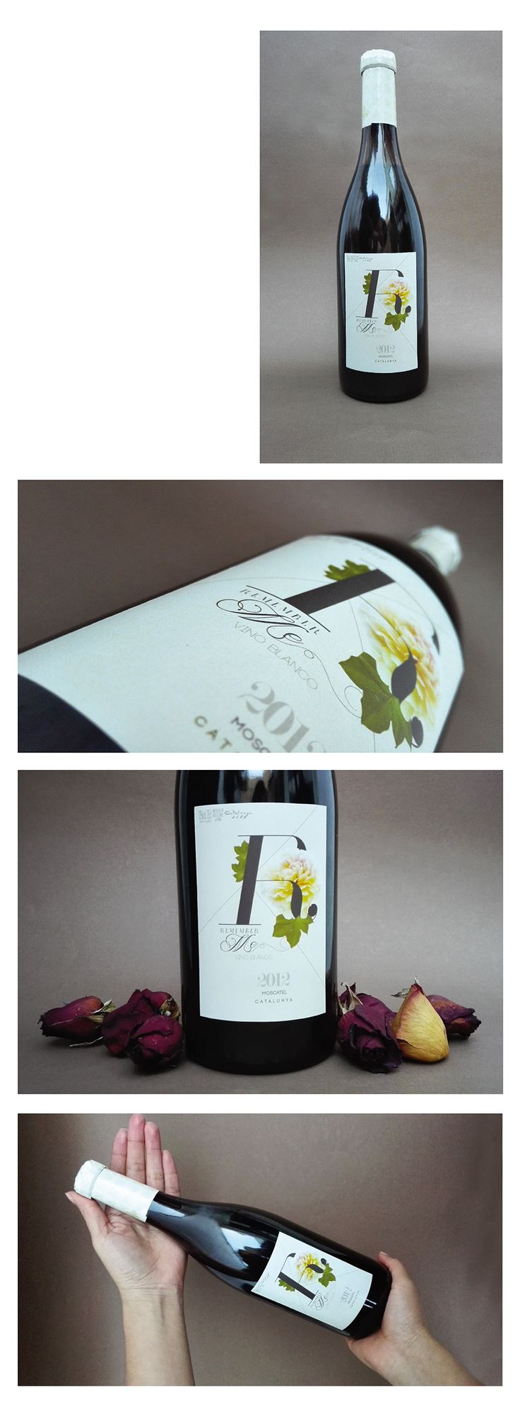Diseño de etiqueta de vino Remember Me, Trabajo independiente.