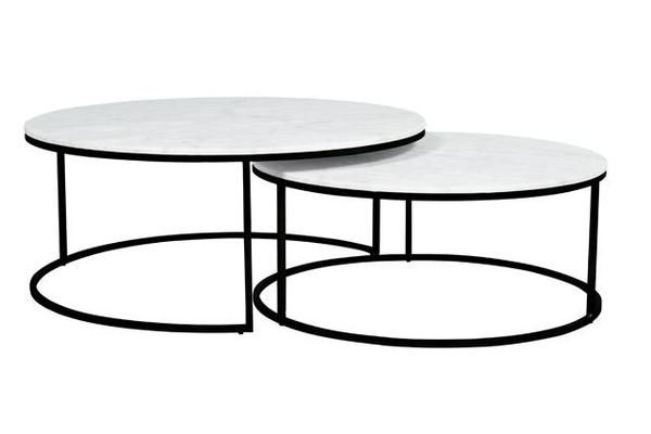 Elle Round Marble Nest Coffee Tables Nesting Coffee Tables Marble Coffee Table Marble Coffee Table Living Room