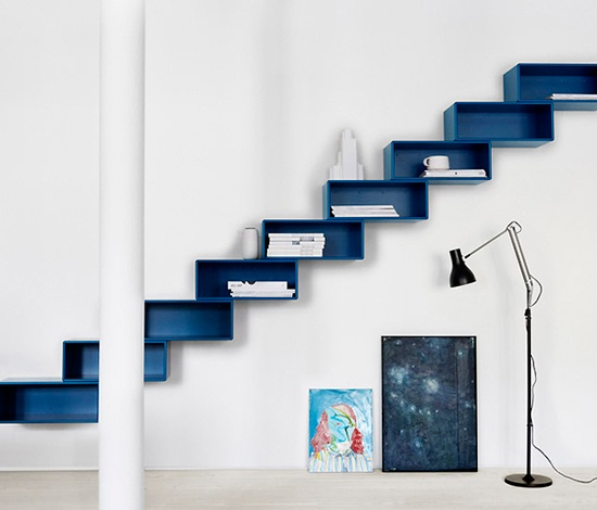 shelves + cat stairs - Perfect for our living room