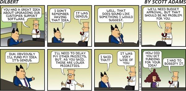 Dilbert and Bossifying