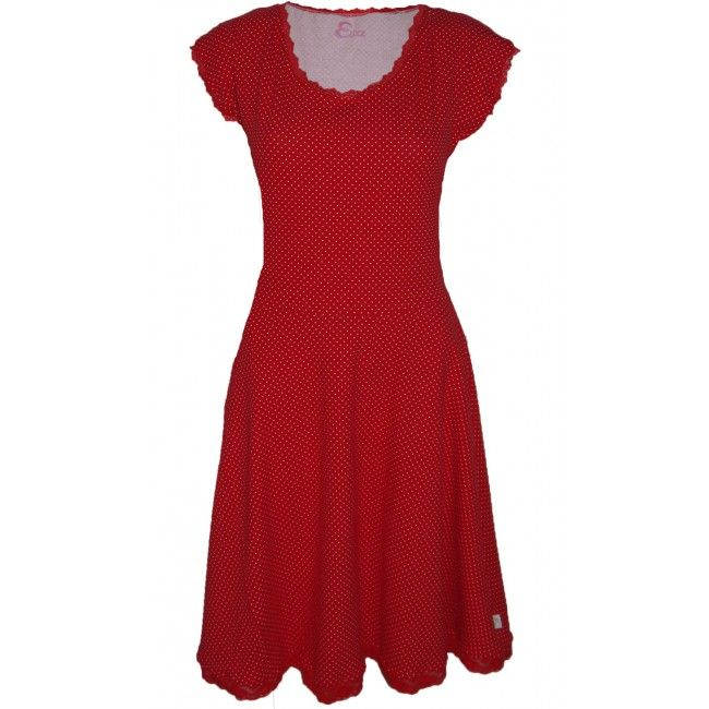 Elizz Delighted Red Elizz Rode stippen jurk dress polkadots red white  Every women needs a red dress!