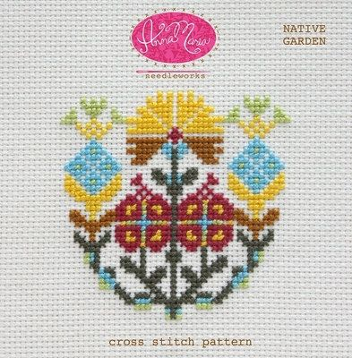 Native Garden by Anna Maria Horner Needleworks - Cross Stitch Pattern - Floral Cross Stitch - Counted Cross Stitch Pattern by Owlanddrum on Etsy