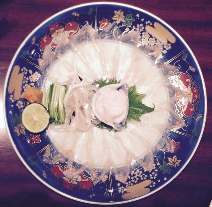 Osaka- blow me blowfish sashimi