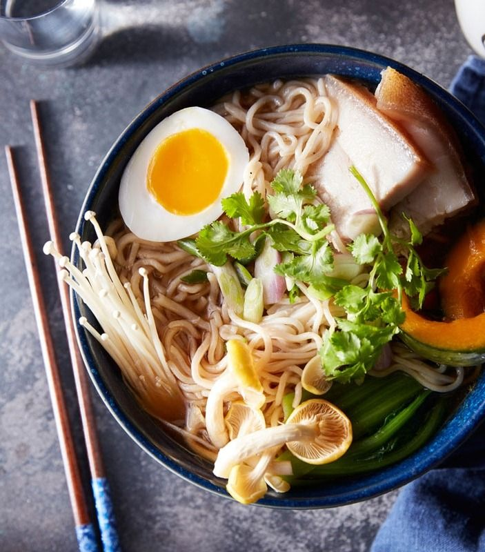 Shoyu Ramen with Pork Belly | Recipe with homemade ramen noodles from the Williams Sonoma Test Kitchen