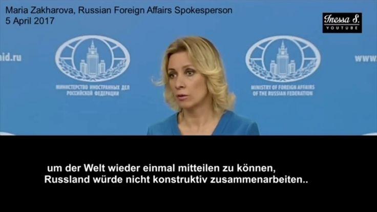 Marija Sacharowa - Der angebliche Giftgasanschlag in Syrien - Deutsch