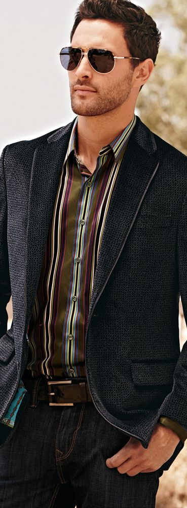 Robert Graham Cobb Patterned Velvet Sport Coat... Like the Sunglasses