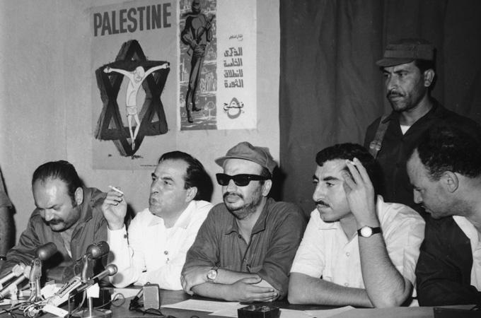 Palestine Liberation  Organization founded 1969    Yasser Arafat in center