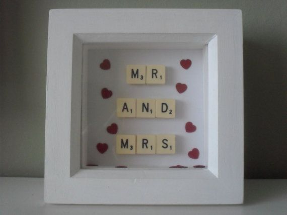 Hey, I found this really awesome Etsy listing at https://www.etsy.com/listing/210821223/scrabble-picture-ruby-wedding