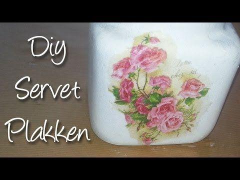 ▶ Hoe decoupeer ik een servet netjes op een glazen pot? Diy - YouTube