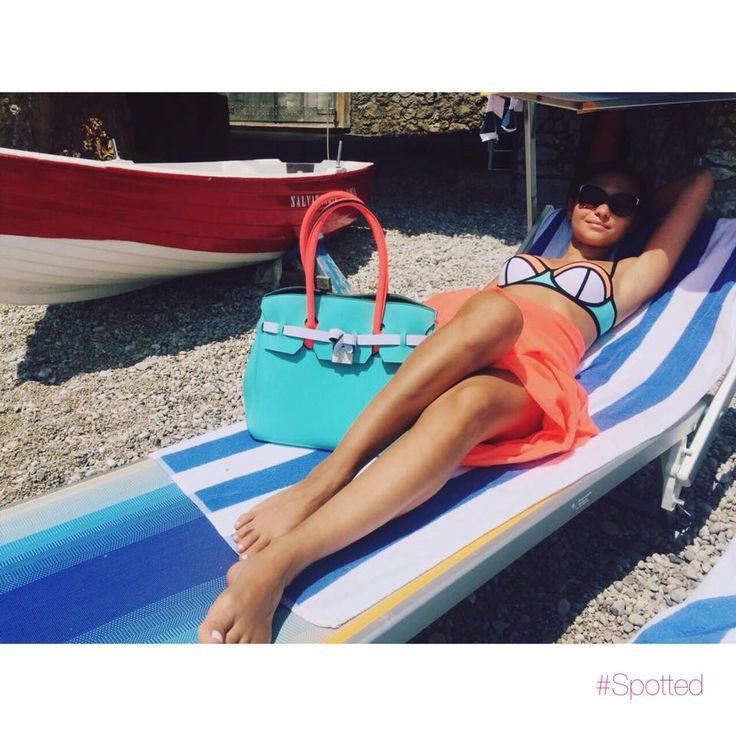 Spotted: special edition Icon Handbag  + Triangl bikini @Capri, Italy