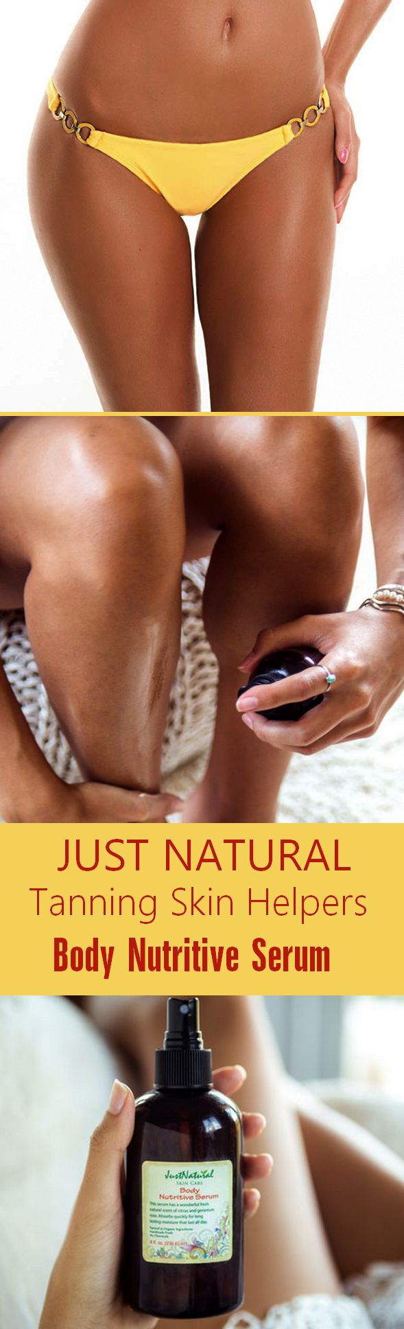 Just a few sprays of this  concentrated body serum  leaves skin smooth, fresh  and ready to be tanning.