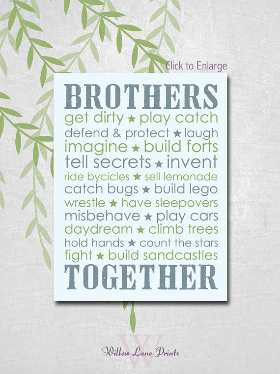 BOYS 11x14 PRINT Twin Boys Nursery art by WillowLanePrints on Etsy, $21.00