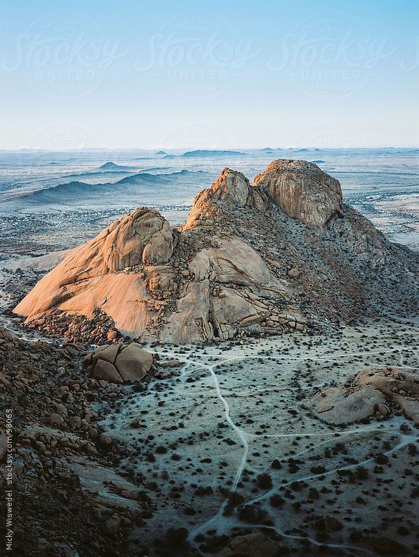 Desert Mountain Landscape of Spitzkoppe in Namibia by Micky Wiswedel. An exclusive image for Stocksy.com.