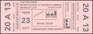 The Trousers, Peter Kovary & The Royal Rebels, River Of Lust - Koncertek a Kuplungban (2017.02.23.)