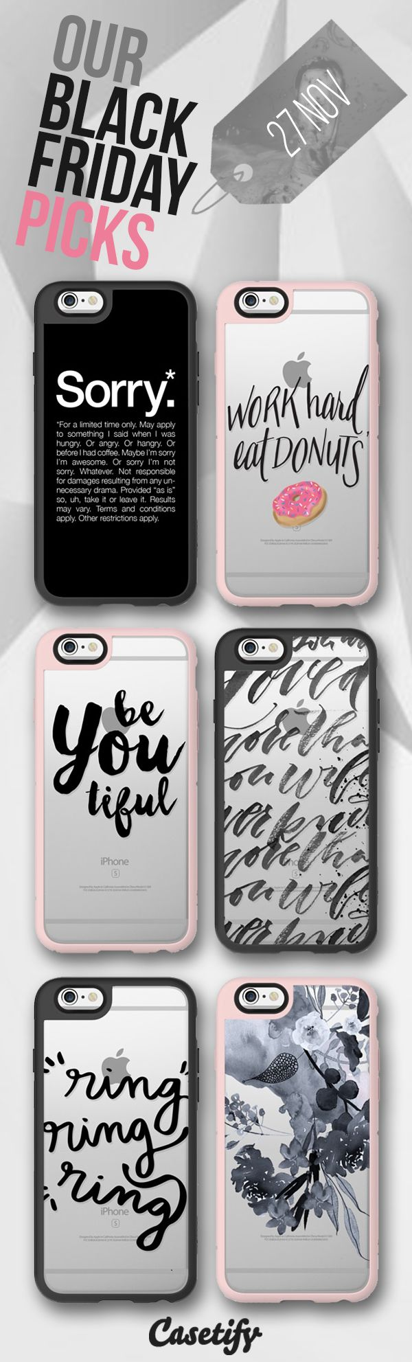 Black Friday & Cyber Monday is just around the corner. Don't miss the biggest sale of the year - plan ahead and add in your favourites into your basket now! Shop our Black Friday picks: http://www.casetify.com/artworks/fzF7z9L4Yq