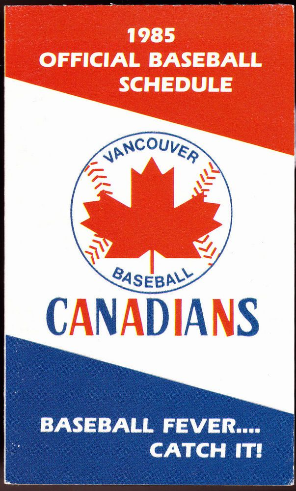 1985 VANCOUVER CANADIANS MOLSON BREWERIES BASEBALL POCKET SCHEDULE FREE SHIPPING #PocketSchedules